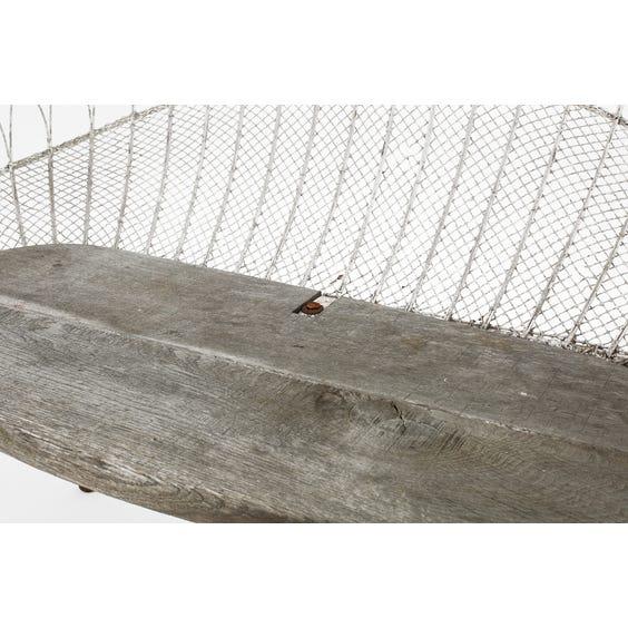 Victorian wirework bench image