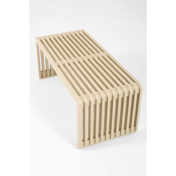 Modern putty grey bench image