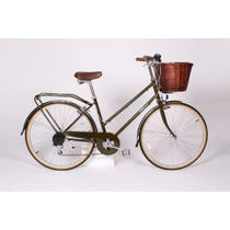 Traditional khaki green bobbin bike