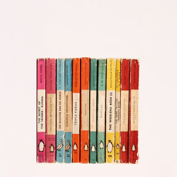 Example of vintage penguin books image
