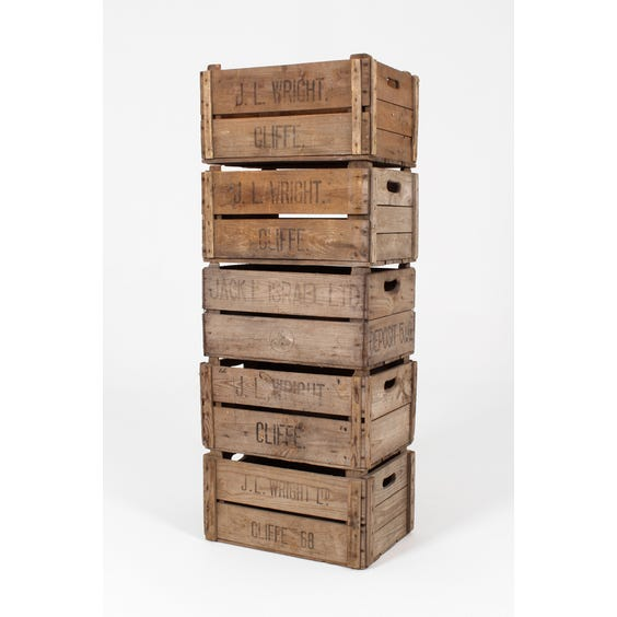 Rustic natural wood box crate image