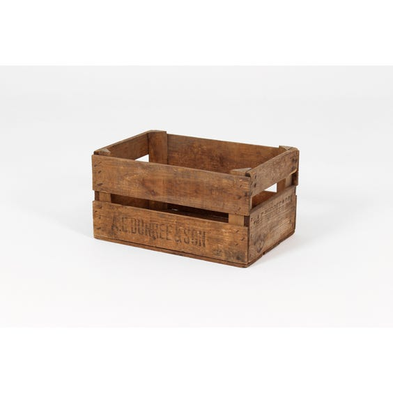 Rustic natural wood deep crate image
