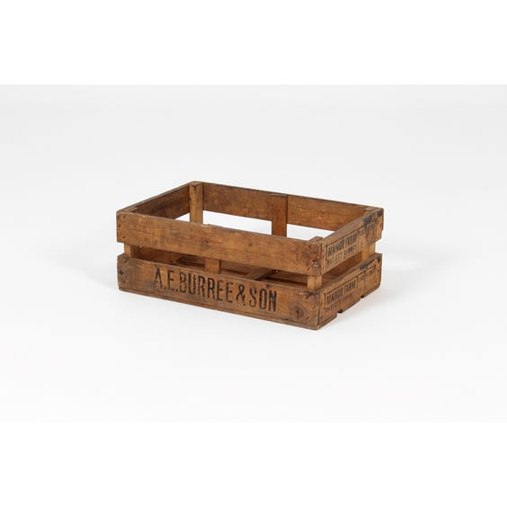 Rustic natural wood shallow crate image