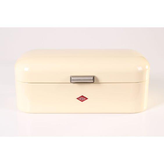 Cream enamel Wesco bread bin image