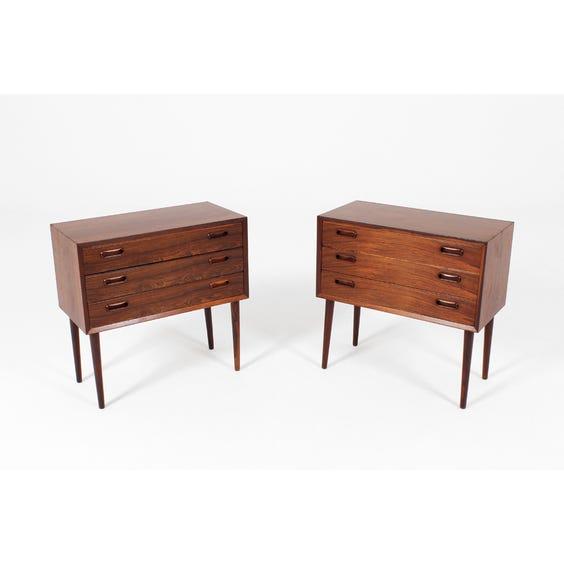 Vintage rosewood bedside chest image