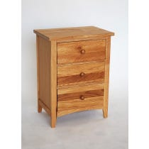 Simple oak bedside table