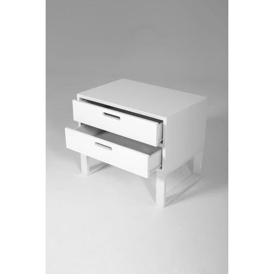 Modern lacquered bedside table image