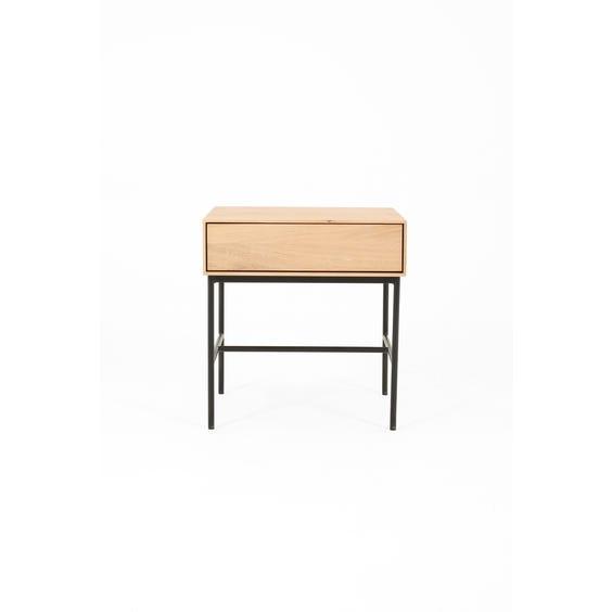Modern oak square bedside table image
