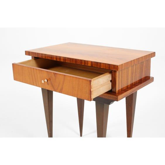 Midcentury teak bedside table image