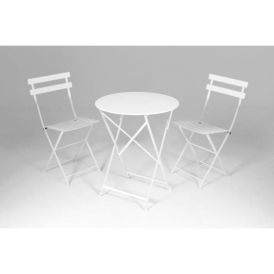 Small white bistro café table image