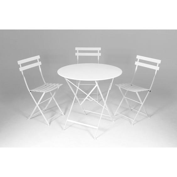 Medium white bistro café table image