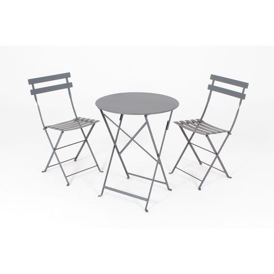 Small grey bistro café table image