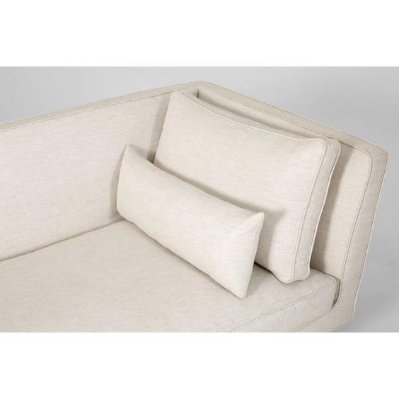 Midcentury style white chaise longue image
