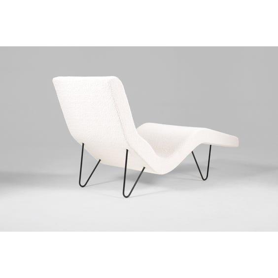 Off white bouclé chaise longue image