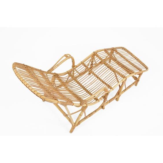 Midcentury Italian bamboo chaise longue image