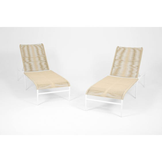 Modern strung putty sun lounger image