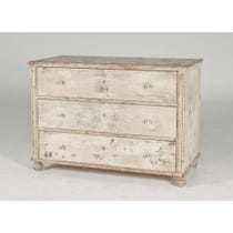 Distressed cream chest of drawers