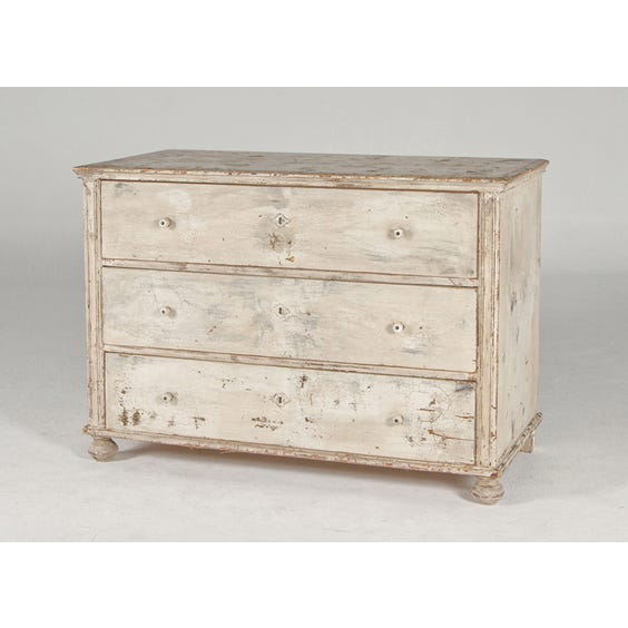Distressed cream chest of drawers image