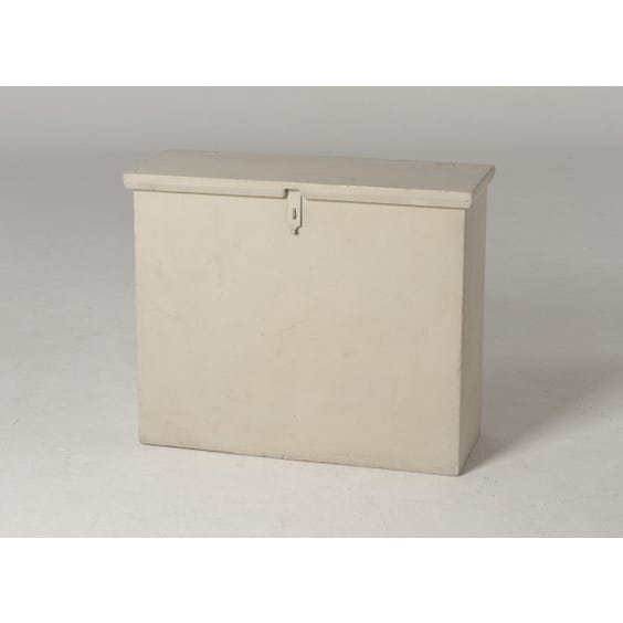 French grey painted tall chest image