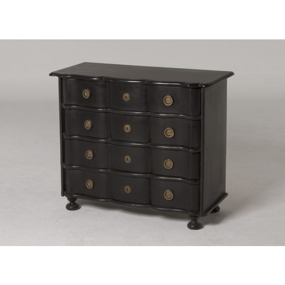 Black wave chest of drawers image