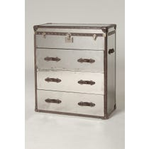 Flight case chest of drawers
