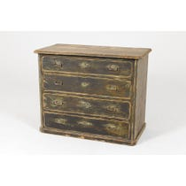 Period distressed chest of drawers