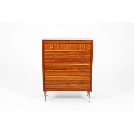 Midcentury teak chest of drawers image