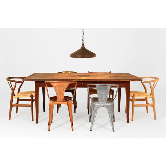 Rustic French chestnut dining table image