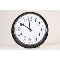 Traditional black and chrome clock