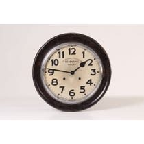 French wooden school wall clock