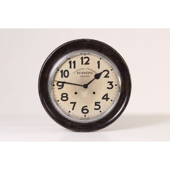 French wooden school wall clock image