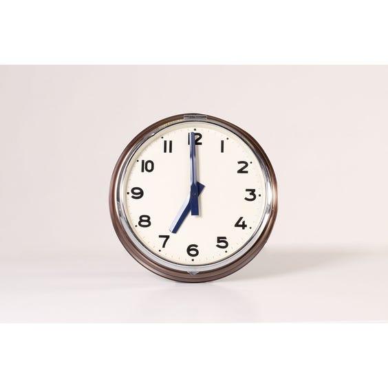 Period bronze wall clock image
