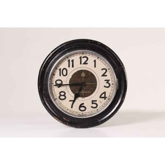 Vintage dark wood wall clock image