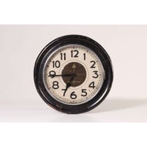 Vintage dark wood wall clock