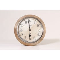 Vintage bleached wood wall clock