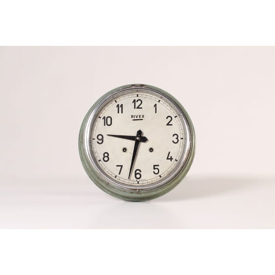Period pale green wall clock image