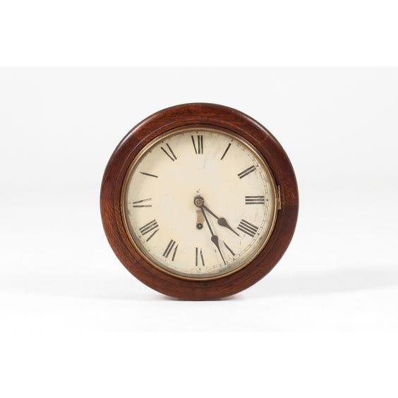 Traditional Victorian oak wall clock image
