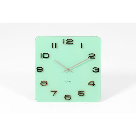 Karlsson mint green glass wall clock image