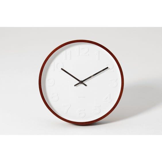 Karlsson circular wooden wall clock image