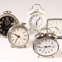 Example of traditional alarm clocks