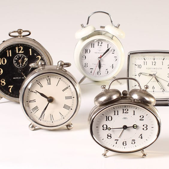 Example of traditional alarm clocks image