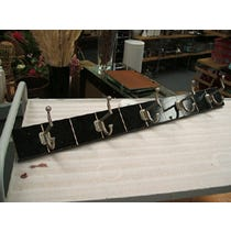 1930s black and silver coatrack