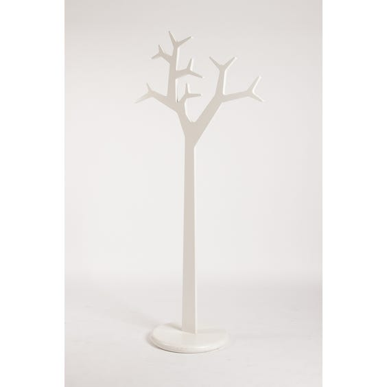 White lacquer tree coat stand image