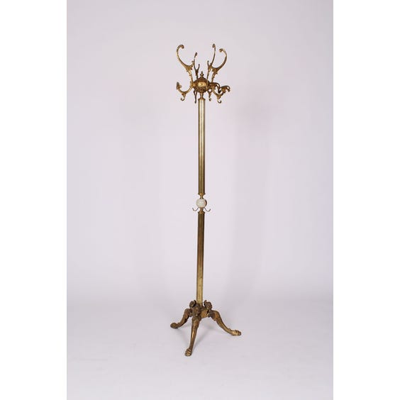 Traditional decorative brass coat stand image