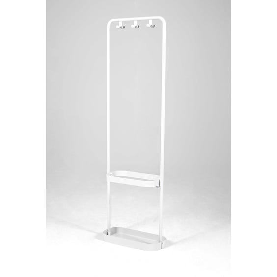 White lacquered metal coat stand image