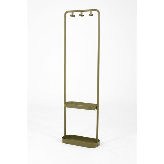 Olive green metal coat stand image