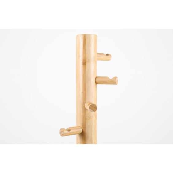 Modern bamboo coat stand image