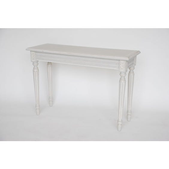 Nordic grey white console table image
