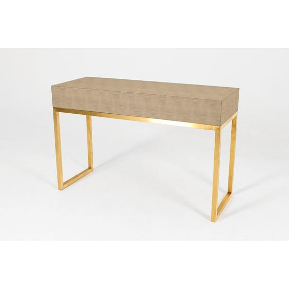 Beige shagreen console table image