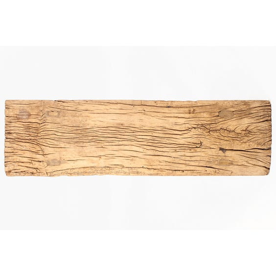 Rustic bleached plank console table image